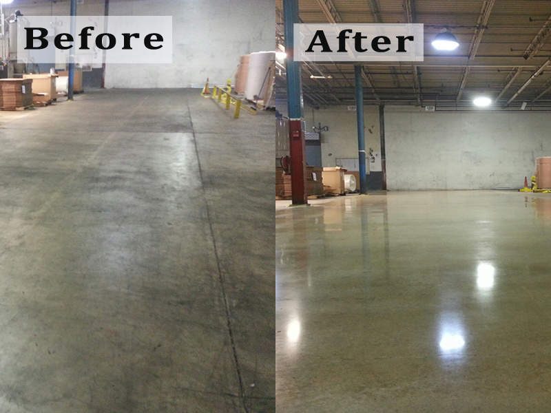 Prime grind inc services for Residential concrete floor wax